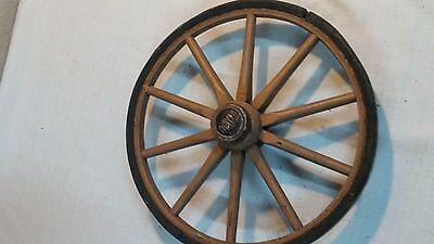 Vtg Antique Thayer Wooden Baby Buggy/Carriage Part Wheel