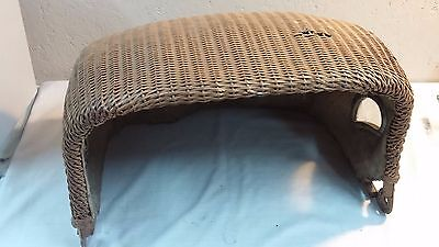 Vintage Thayer Wicker Baby Buggy / Carriage Part Top/Hood