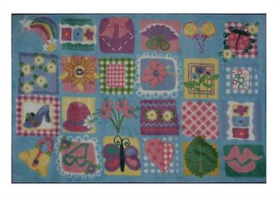 Funky Girls Quilt Kids Multicolor Rug [ID 74392]