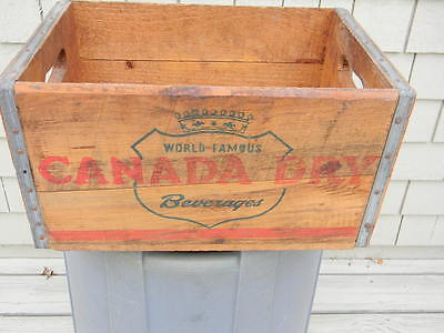Vintage Canada Dry Soda Wood Bottle Crate Box Case Fall River Massachusetts