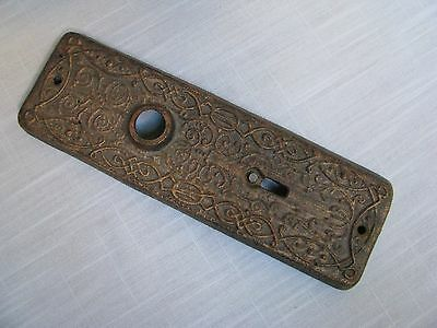 Cast Iron Metal Paperweight Filigree DoorKnob Backplate Copper Tone Top w Black