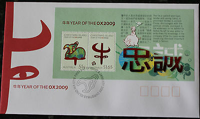 Christmas Island Year of the Ox FDCs 2009