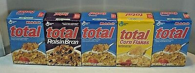 5-pack General Mills Total Cereal Mini Boxes in sealed plastic wrap Ship box New
