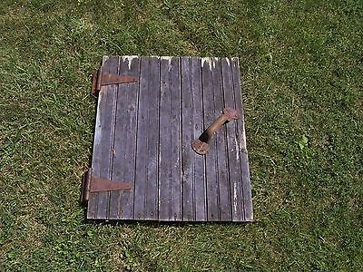 Antique Vintage Reclaimed Wainscot Barn Door  22 x 27 COMPLETE with all Hardware