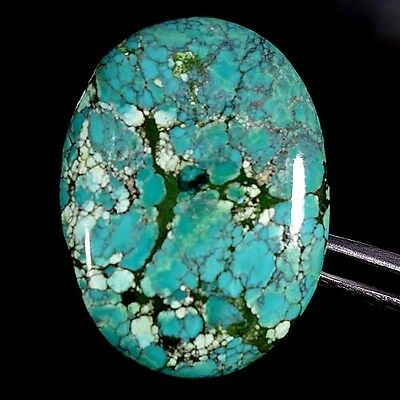 28.00Cts. 100% NATURAL UNTREATED TIBET TURQUOISE OVAL CABOCHON QUALITY GEMSTONES