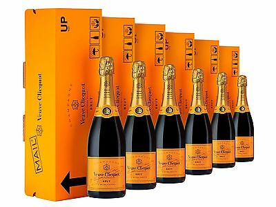 Veuve Clicquot Yellow Label Brut NV Express Gift Box Champagne 6 PACK