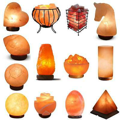 Himalayan Salt Lamp Carved Shape Natural Pink Crystal Rock Light Decor