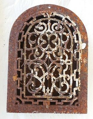 Antique Cast Iron Arched Top Victorian Heat Grate #2