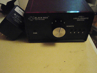 Black Box 4 to 1 Local/Remote Switch SW982A Serial Parallel
