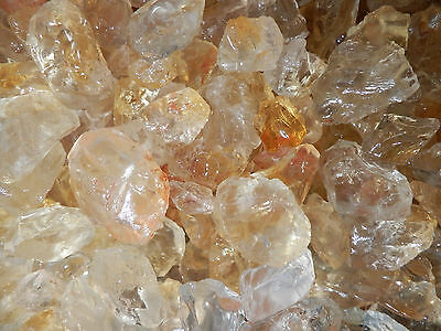 Citrine (Clear Yellowish) Crystal Stone from Brazil - 100 gram Small Pieces Lot