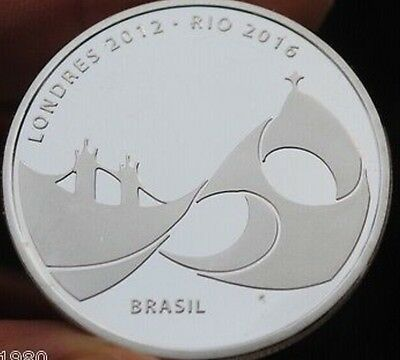 New London 2012 - Rio 2016 Handing Over Olympic Flag Silver Plated