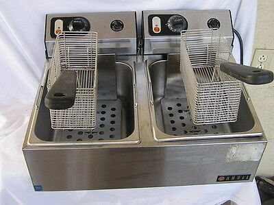 Anvil Electric Countertop Commerical Double Deep Fat Fryer Model Ffa 1201