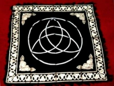 Altar Cloth Triquetra 60cm Witch Wicca Pagan
