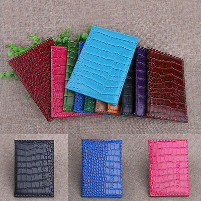 New Passport Card Holder Cover Case Protector Alligator PU Leather Travel Wallet