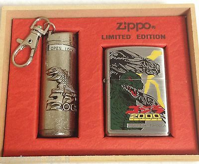 Zippo GODZILLA Millennium Limited Edition Ashtray figure plated Japan VERY RARE