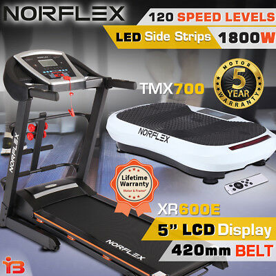 NORFLEX Electric Treadmill With Vibration Platform Exercise Body Shaper Fitness
