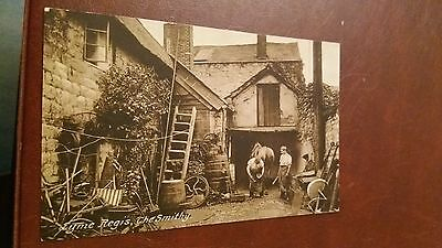 "LOT.9. "" LYME REGIS, THE SMITHY. No. 61633 "".UNPOSTED"