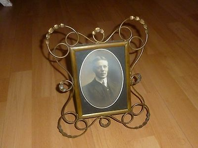 A Large Victorian Ornate Brass Photograph Frame c1870/80