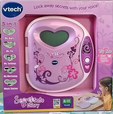 Pink VTech Secret Safe Diary - Hidden Drawer & Memo Pad MP3 Connection Ages 6-11