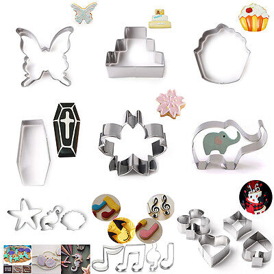 New Arrival flower Animal Cookie Cutter Biscuit Metal Pastry Cake Fondant Mold