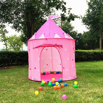Portable In/Outdoor Palace Castle Play Tent House Children Kids Toy+ 50pcs Balls