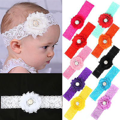 NT Lace Flower Headband Hair Band Accessories For Kids Girl Baby Toddler Infant