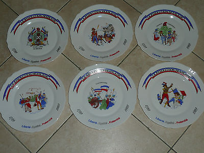 """6 Assiettes Plates Arcopal """" Revolution Francaise """"  French Plate"""