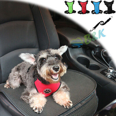 Durable Car Vehicle Safety Seat Belt Restraint Harness Leash For Dog Pet Travel