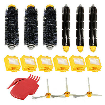SA Filters Pack 3 Armed Side Brush Kit For iRobot Roomba Vacuum 700 760 770 780