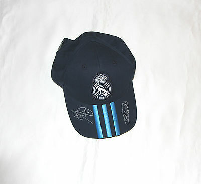 Real Madrid Football Cap Signed By Cristiano Ronaldo & Gareth Bale with COA