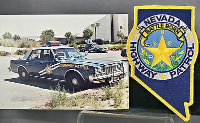 Obsolete Nevada State Highway Patrol Police Patch & Matching Vehicle Photo