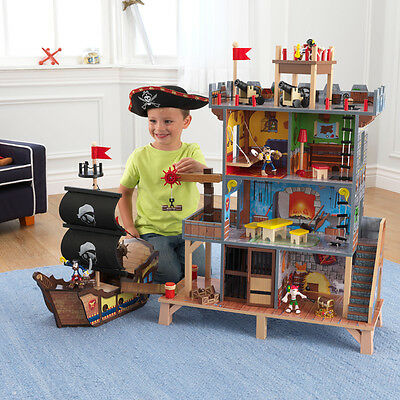 Kidkraft Wooden Pirate Cove Ship Boys Girls Kids Childs Toy Playset Hideout NEW