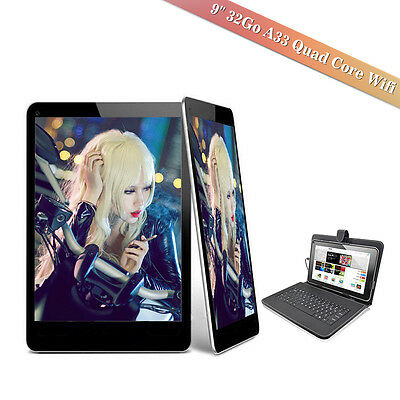 9'' Tablette Tactile Android 4.4 32Go 3G A33 Quad Core Google Wifi HD Clavier