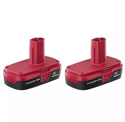 Craftsman C3 19.2-Volt Compact Lithium-Ion Two Battery Packs  New In Box No Tax!