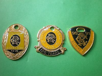 CRICKET CLUB RICHMOND  BADGES.( postage & package FREE.