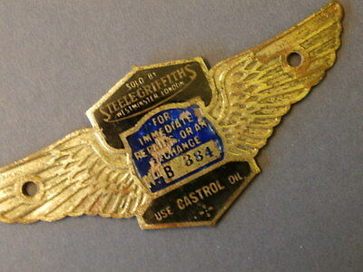 Steele Griffiths,Westminster,London. Dealers Suppliers Plaque Chassis Plate.