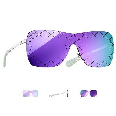 Chanel quilted purple shield sunglasses