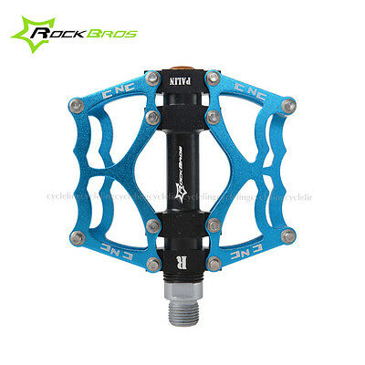 ROCKBROS Bike Pedals Cycling Sealed Bearing Pedals Blue New