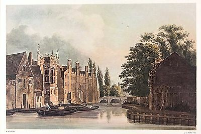 St John's College, Cambridge (From Fisher's Lane)  Lithograph after Wm. Westall