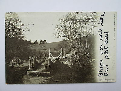 Vintage Postcard - Shaky Bridge & Cefnlly Church , Nr Llandrindod Wells , Wales
