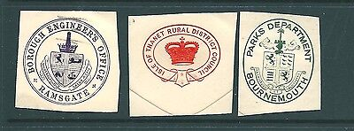 Antique ENVELOPE SEAL cut-outs - Municipal Organisations (b)