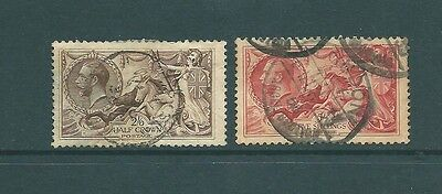 2 UNCHECKED George V 'SEAHORSE' stamps