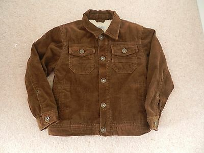 M&S Boys brown fur lined corduroy jacket aged 5-6yrs  Exc Cond
