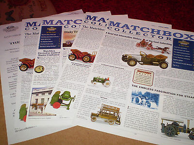 4 Matchbox Collector Magazines 1997 Uk Editions Excellent Condition