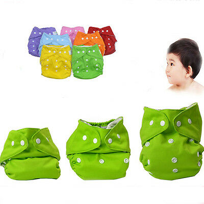 Hot Adjustable Washable Insert Baby Cloth Diapers Reusable Nappy Infant