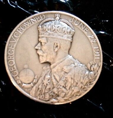 1911 GEORGE V SILVER Coronation Official Medal.Lovely Condition..**REDUCED**