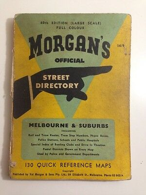 VINTAGE 1960's MORGANS STREET DIRECTORY Melbourne & Suburbs, 40th Edition