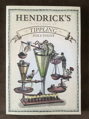 Hendricks Gin Tippling Solutions Collectable Recipes Book - NEW! RARE!