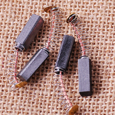 New  4x carbon & copper 6mm x 6mm x 20mm Carbon Brush for Generic Electric Motor