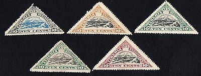 Liberia stamps.  1919 Patrol Boat Quail. MLH. With faults
